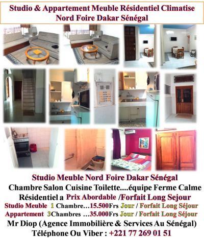 Locations dakar a louer vide ou meuble appartement for Appartement meuble a louer dakar