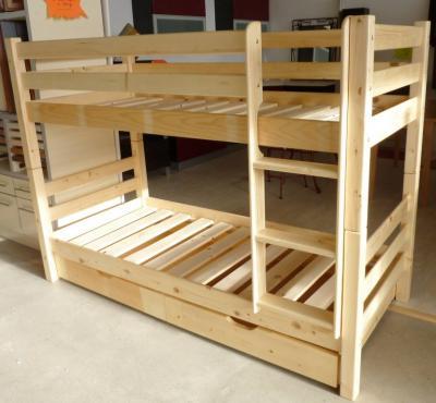 ameublement dakar lit superpos en pin massif. Black Bedroom Furniture Sets. Home Design Ideas