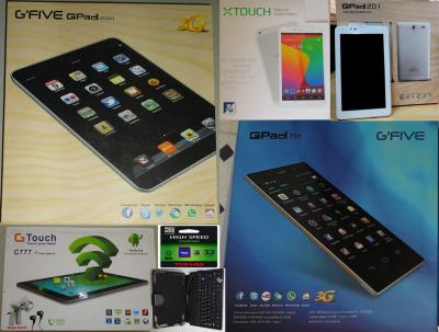 Promo tablettes Androïde phone g'five gpad 3G+