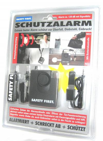 Alarme de protection rapprochée safety first
