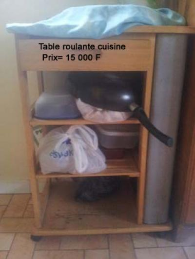 Table de cuisine roulante