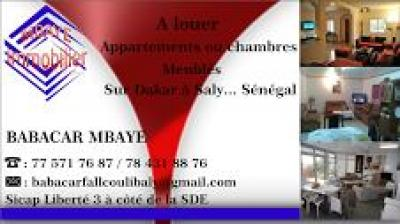 chambr  meuble ou appartement a saly  au 775717687