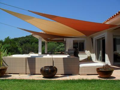 Bricolage jardinage abri de terrasse chapiteau toile voile d 39 ombrag dakar petites - Toile auvent de terrasse ...