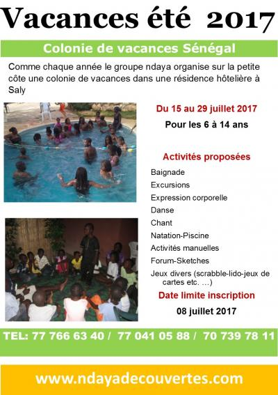 SENEGAL colonie de vacances 2017