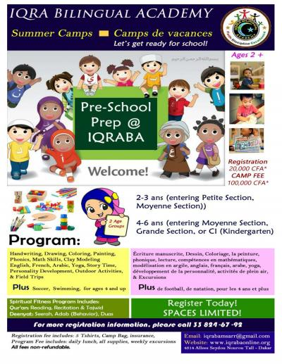 Summer Camp / Camp de vacances at IQRA Bilingual