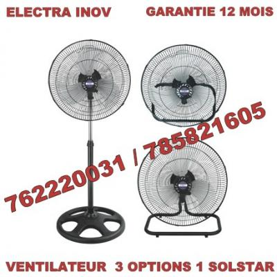 VENTILATEUR GARANTIE 12 MOIS / 3 OPTIONS 1 SOLSTAR