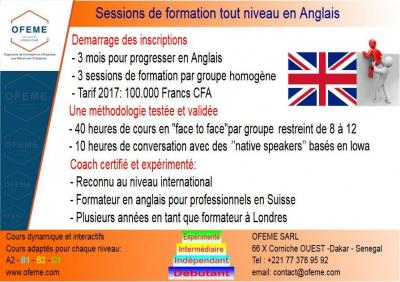 Formation intensive anglais