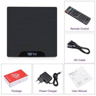 Smart TV BOX android W95 Amlogic Quad-core 64-bit