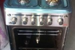 CUISINIERE INOX FULL OPTION 4 FEUX